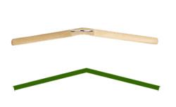 上から見た屈折型ハンガー